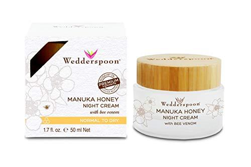 Wedderspoon Manuka Honey Night Cream with Bee Venom, 1.7 Ounce