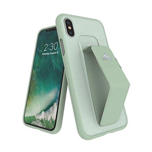 Preisvergleich Produktbild adidas SP Grip Hülle Apple iPhone X / Xs Aero Grün Cover / Schale Schutzhülle Case Kunststoff Handyhülle in Grün