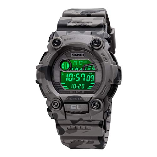 CakCity Boys Camouflage LED Sports Kids Watch Waterproof Digital Electronic Military Wrist Watches for Kid with Luminous Alarm Stopwatch Child Watches Ages 3-15