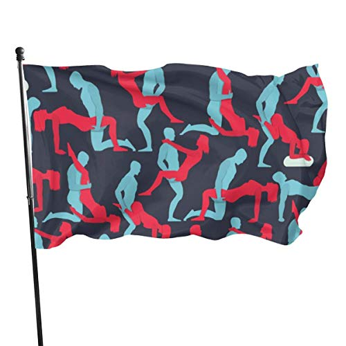 Oaqueen Flagge/Fahne Sex Garden Flag Yard Home Outdoor Decor Durable and Fade Resistant 3'x5' FT