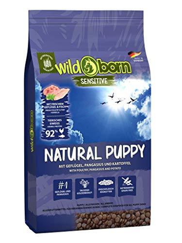 Wildborn Hundefutter getreidefrei Junior Natural Puppy 15kg für Hundewelpen & Junghunde mit frischem Geflügelfleisch | Junior Hundefutter für alle Hunderassen ab 2 Monate