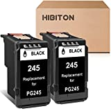 HibiTon Remanufactured Ink Cartridge Replacement for Canon PG-245 PG245 245 Work with Pixma TR4520 MG2520 MG3022 MG2522 MG2525 TR4522 TR4527 MG2922 MG2920 TS202 MX492 MX490 TS302 Printer (2 Black)