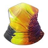 ENZOOIHUI Patrón de Girasol Brillante Personalizado Unisex Polar Cuello Polaina pasamontañas de esquí Media máscara para Mujeres Hombres