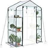 Quictent Mini Walk-in Greenhouse 3 Tiers 6 Shelves Plants Garden Green...