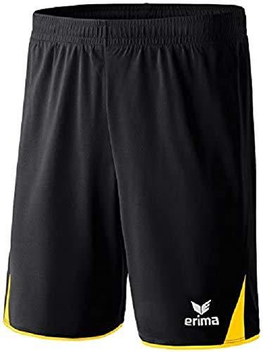 Erima Herren Classic 5-C Shorts, schwarz/gelb, S