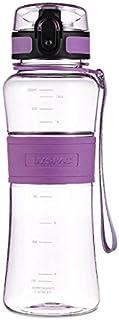 DeeFec Best Sport Water Bottle - 22oz Large - Fast Flow, Flip Top Leak Proof Lid w/One Click Open - Non-Toxic BPA Free & E...