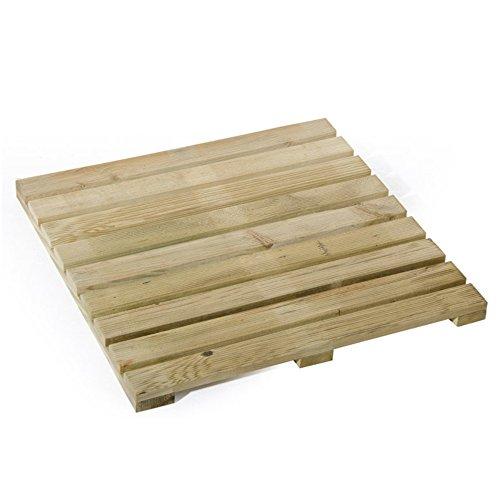 Verdelook Brique en Bois imprégné pour Pavage extérieur, Dimensions 50 x 50 cm, 1,5 kg