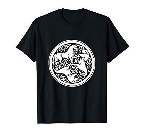 Celtic Art - Horse Pattern - Book of Kells T-Shirt