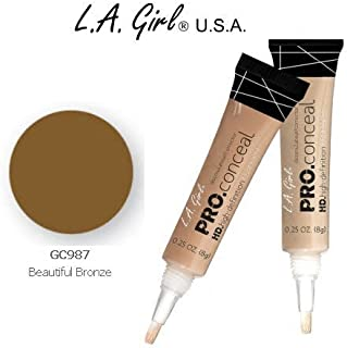 L.A. Girl Pro Conceal HD 987 Beautiful Bronze (2 Pack)