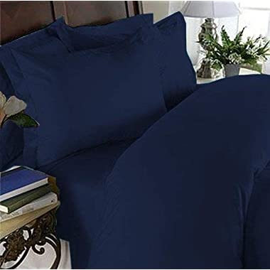 Hotel Luxury Bed Sheets Set- 1800 Series Platinum Collection-Deep Pocket,Wrinkle & Fade Resistant(King,Navy Blue)