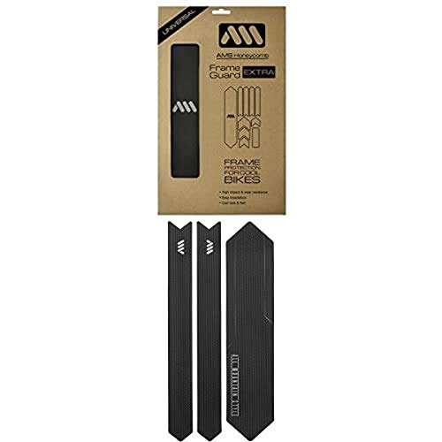 All Mountain Style AMS High Impact Frame Guard Extra Black/Silver + Chain Guard Black/Silver