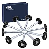 XiKe 10 Pack Black 2' Nylon Garage Door Roller 4' Stem, Quiet/Durable and High Load, Use 6200-2RS Double Seals Precision Bearings.