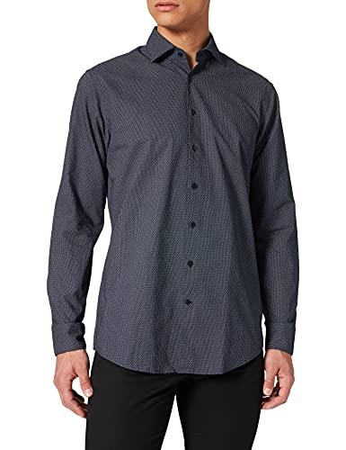 Seidensticker Herren Regular Fit Langarm Oxford Hemd, Blau (Blau 19), (Herstellergröße: 41)