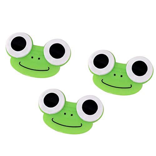 Nai-Style Frosch Kontaktlinsen Fall Niedlicher Froggy Cartoon Kontaktlinsen Aufbewahrungsbehälter-Behälter für Outdoor-Reisen Green 3PCS