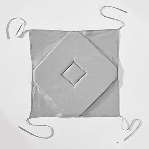 Today 261114 Galette Polyester Zinc/Gris 40 x 40 cm