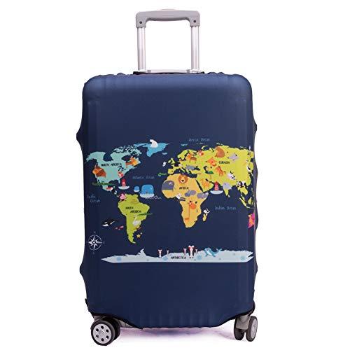 """Maddy's Home Protector de maleta divertida de dibujos animados para equipaje de 23-32 pulgadas (Map, XL (Fit 29""""-32"""" suitcase))"""