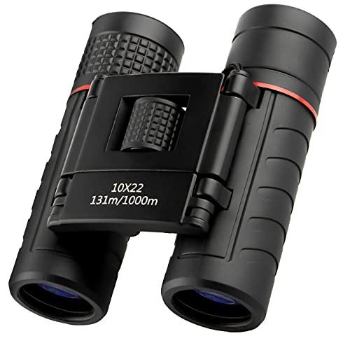 opamoo Binocolo Professionale,10x22 Cannocchiale Compatto Binocoli Impermeabili Telescope HD binocolo pieghevole Bionoculars per Birdwatching, Caccia, Viaggio, Campeggio e Eventi Sportivi,bambini