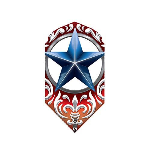 Shot 5 x Sets Wild Frontier Trailblazer Red with Blue Star Slim Shaped Dart Flight