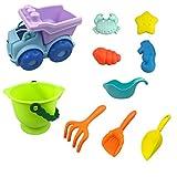 Embudo de Playa Macaron Casa de Juegos para bebés Herramienta de Pala de Arena para Jugar en el Agua Limpia e higiénica, fácil de Transportar, se Puede reutilizar, los Padres Pueden Estar Seguros