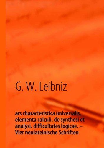 G. W. Leibniz, ars characteristica universalis