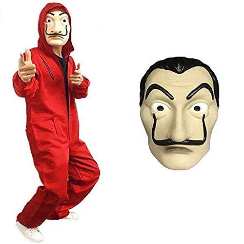 La Casa De Papel la casa di Carta Cosplay Mask Overalls Halloween Costume Hoodie Jumpsuit Costume la casa di Carta