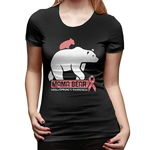 WoodWorths Bear Womens Short Sleeve T Shirt Tees Sport Summer(Large,Black)