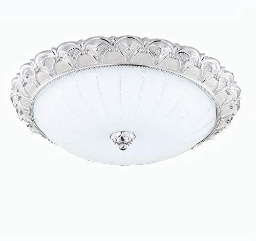 YANQING Duurzame plafondlampen Moderne LED Glas Plafond Lamp, Oogbescherming Energiebesparing Plafond Licht voor Aisle Slaapkamer Studie Kamer, Warm Plafond Verlichting Kroonluchter Plafond Lichten (Kleur : Zilver)