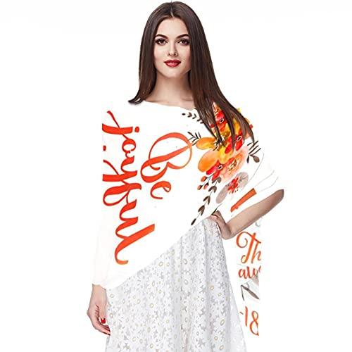 WJJSXKA Schals für Frauen Leichte Mode Schals Print Blumenmuster Schal Schal Wraps, sei fröhlich