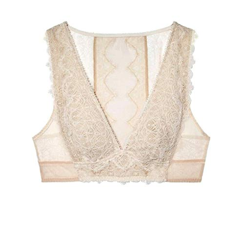 Victorias Secrets Dream Angels Ivory Mesh Chantilly Lace Plunge Bralette (Medium)