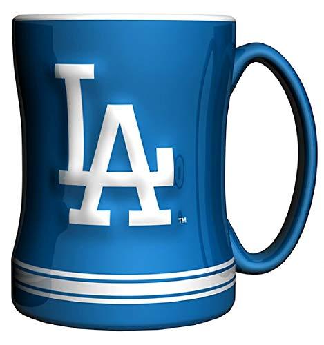 L.A. Dodgers Navy Blue 14oz. Ceramic Relief Mug
