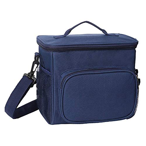 AINY Can Cooler Bag Lunch Bag, Cooler Bag Insulated, Small Cooler Bag with Liner A Prueba De Fugas Cubo Duro para Hombres, Mujeres, Viajes, Camping, Picnic, Playa, Barbacoa,Azul