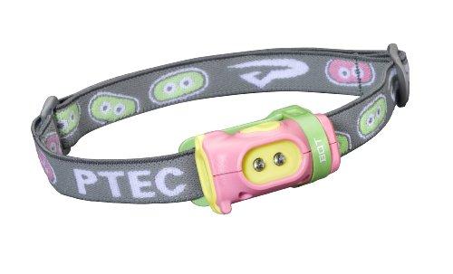 Princeton Mädchen-Stirnlampe Tec Bot, Weiße LEDs Pink/Green/Yellow