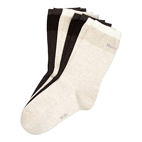 Marc O'Polo Body & Beach Damen Multipack W 4-Pack Socken, schwarz, 39/42