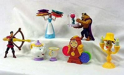 McDonalds - Beauty and the Beast Happy Meal Set - 2002