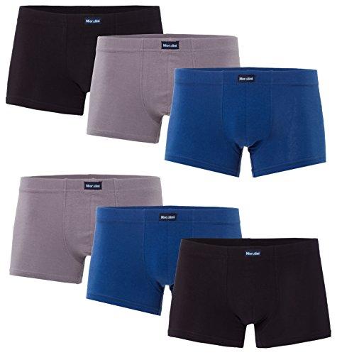 MioRalini 6 Herren Elastan -Baumwoll Boxershort, Modell: 6 STK Set 09, Größe: 3XL-9