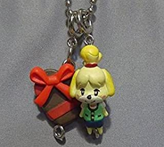 Animal Crossing Jump Out New Leaf Mascot Collection Part 2 Key Chain Figure -Shizue Isabelle & Heart Chocolate