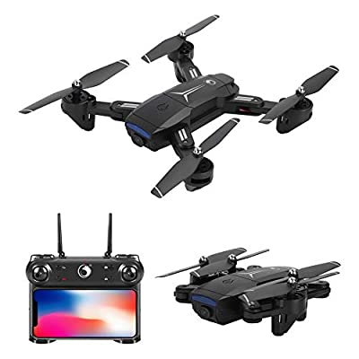 U'king Drone with 1080P camera HD WiFi live transmission ,RC Quadrocopter remote controlled with Altitude Hold + 2.4 GHz mobile phone control, headless mode, collapsible fuselage