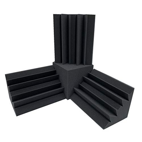HHOSBFSS 4 Unids/Set Espuma Acústica, 3 Unids 12x12x24 Espuma De...