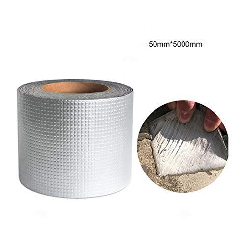 Starke Qualität Aluminiumfolie Butylkautschuk Klebeband Rohr Glasboden Dach Fenster Wand wasserdicht klebende Versiegelung 1,5 mm dick - Silber - Silber