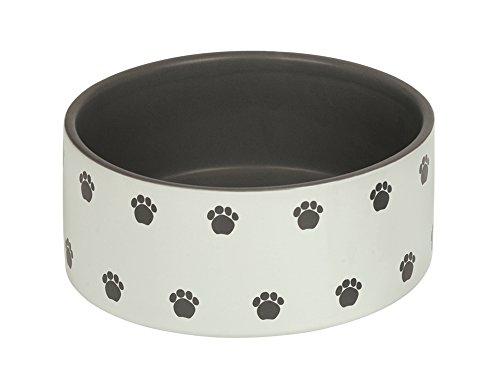 "Nobby Hunde Keramiknapf ""PATA"" creme / grau Ø18,0 X 7,0 cm"