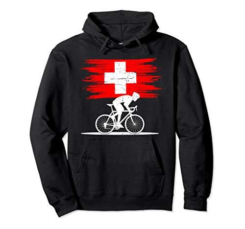 Schweiz Rennradfahrer Rennvelo Fahrer Velo Fahrrad Pullover Hoodie