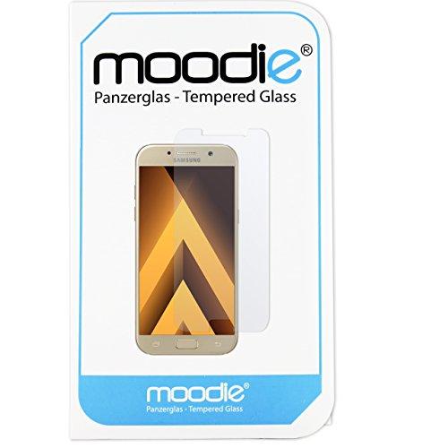moodie Panzerglas 3D Folie für Samsung Galaxy A5 2017 - Premium Glasfolie für Gewölbte Bildschirms Full Screen 3D Panzerglasfolie Curved vollständige Bildschirm Abdeckung