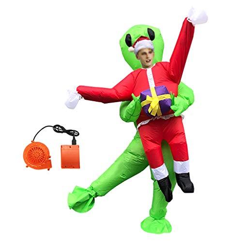 Erwachsene Aufblasbares Kostüm Weihnachtsmann Abendkleid Halloween Weihnachten Spiel Rollenspiel-Geschenk Kleid, Passend For Höhe: 150-200 Cm