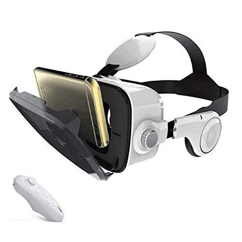 JYMYGS VR Brille, HD 3D Virtual Reality Brille, für 3D Film und Spiele, Geeignet 4,0-6,0 Zoll Smartphone Handy für iPhone SE 6/6s/7/8/X/XS, Samsung Galaxy S6/S7/S8/S9, Huawei p10/p20. N016JL