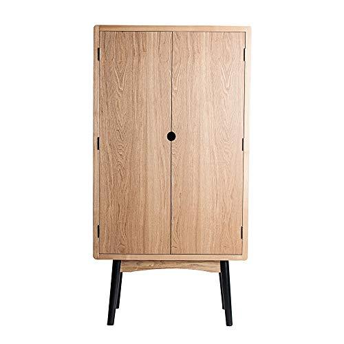Vipalia Armario de Madera de Fresno. Mueble Dormitorio Comedor Recibidor. Estilo Nordico. Lacado. Medidas 80x38x155 cm. Coleccion Waco. Color Natural