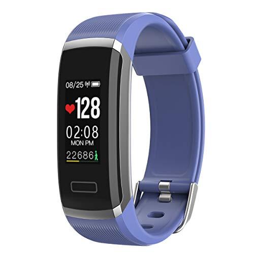 SANON Pulsera Inteligente Reloj de Pulsera Monitor de Ritmo Cardíaco Rastreador de Ejercicios GPS a Prueba de Agua