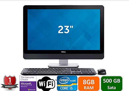 Dell Optiplex 9020 All In One FHD (1920 x 1080) Business PC, Intel 4th Gen Quad Core i5-4570S, 8GB Ram, 500GB HDD, HDMI, VGA, WIFI, DVD-RW, Bluetooth, USB 3.0, Win 10 Pro (Renewed)