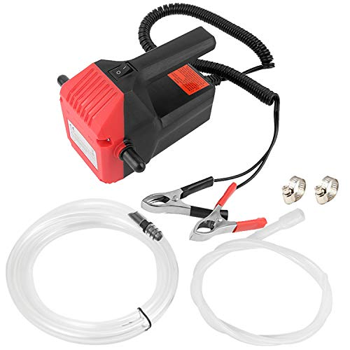 Lotyes Quick Oil Change Pump, DC 12V 60W Oil Diesel Fluid Pump Extractor Transfer Pump & Tubes Kit for Car, Boat, Motorbike, Truck, RV, ATV and Other Vehicles