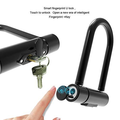 WERNG digitale druk, ontgrendelingsslot, voor fiets, motorfiets, auto, elektrisch, diefstalbeveiliging, smart in U-vorm, deurslot van glas