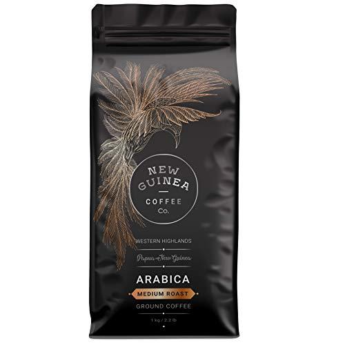 Medium Roast Coffee: Ground and Beans | Premium Single Plantation (2.2 Pound GROUND)